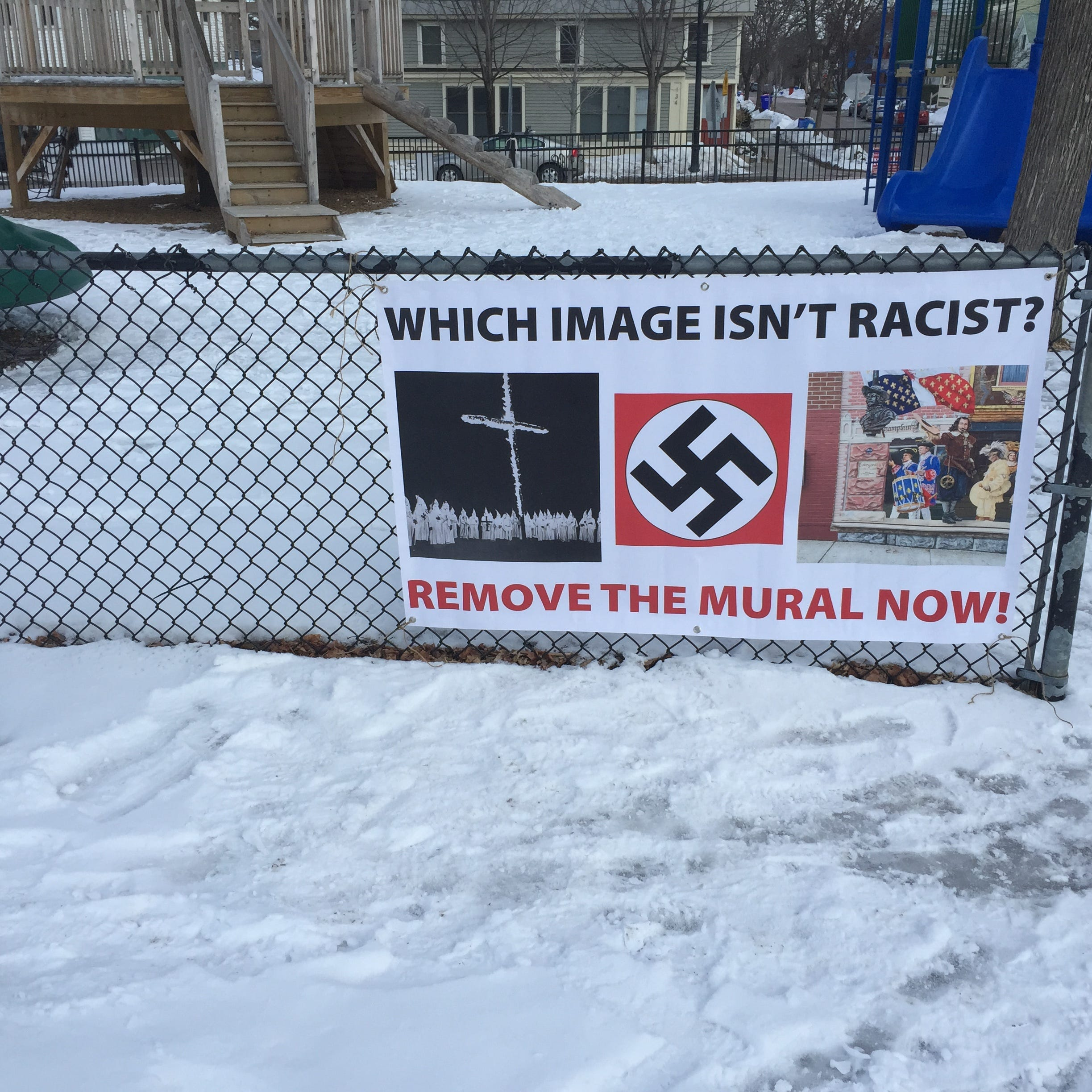 Cross burnings, swastikas, murals: Poster prompts discussion on free speech