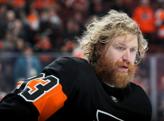 Jake Voracek missed two games with an injury but is set to return to the lineup Saturday against the New York Islanders.