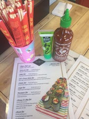 Elsie's offers chopsticks, hot sauce and wasabi for those ordering pickle and cucumber wraps.