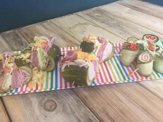 Pickle sandwiches that look like hoagies and cucumber wraps that can be served like sushi are the specialities at Elsie's in Haddon Township.