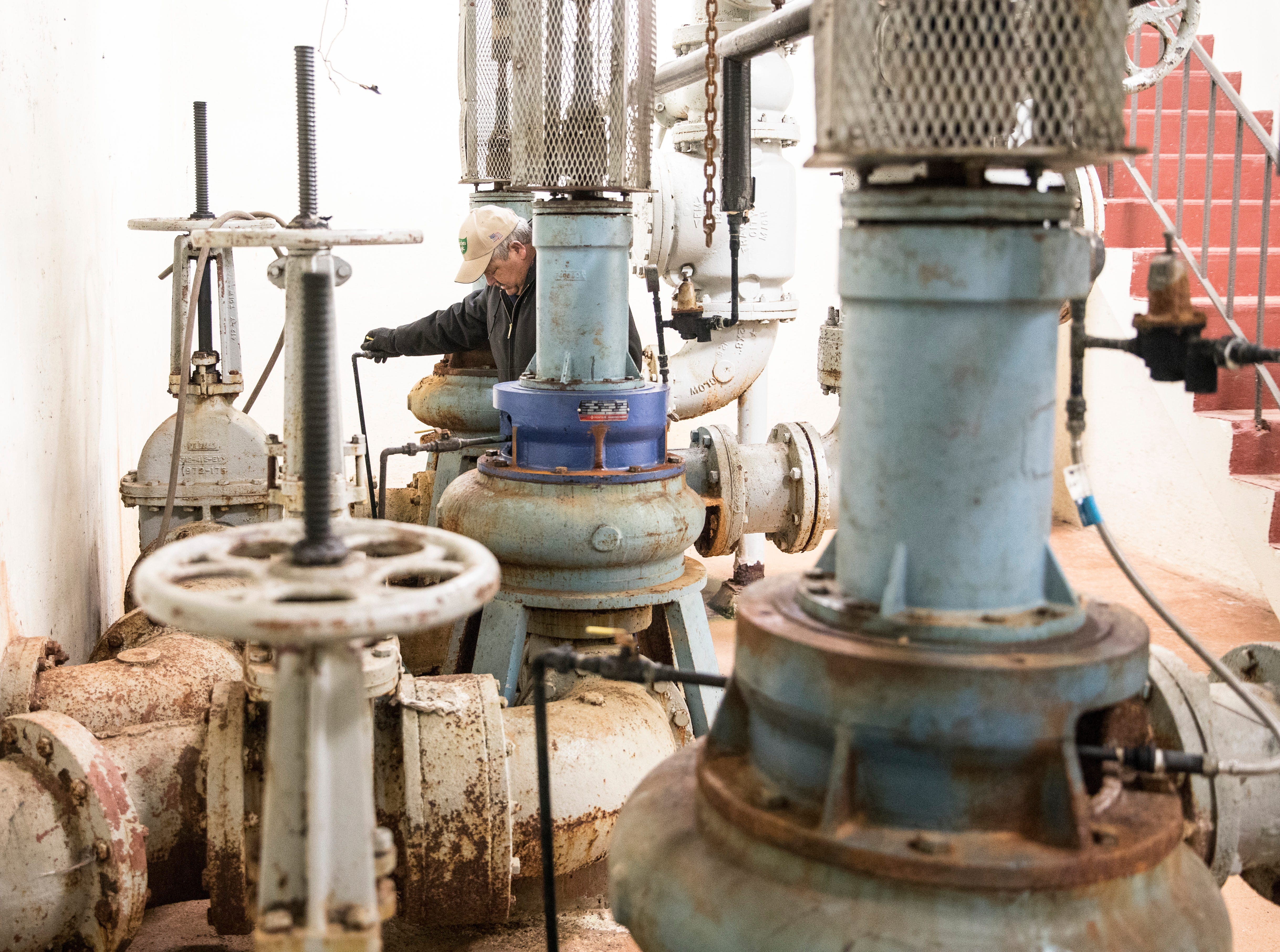 Revis Osborne makes sure the original boilers from the 1930s are still in working condition. They are used in certain circumstance to help the wastewater treatment facility be as efficient as possible.