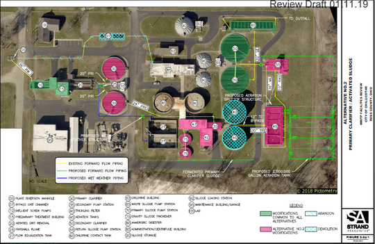 The proposed renovations and upgrades to the Chillicothe wastewater treatment plant that will cost an estimated $27 million.