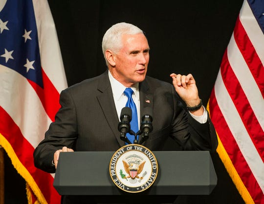 Vice President Mike Pence spoke to Ohio oil and gas company executives on Friday.