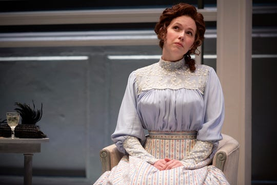 "Esther Cunningham plays Emmy in the Ensemble Theatre Cincinnati production of Lucas Hnath's ""A Doll's House, Part 2."""