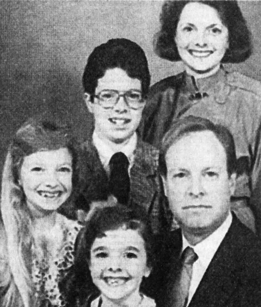 The Shrout family photographed in 1989.