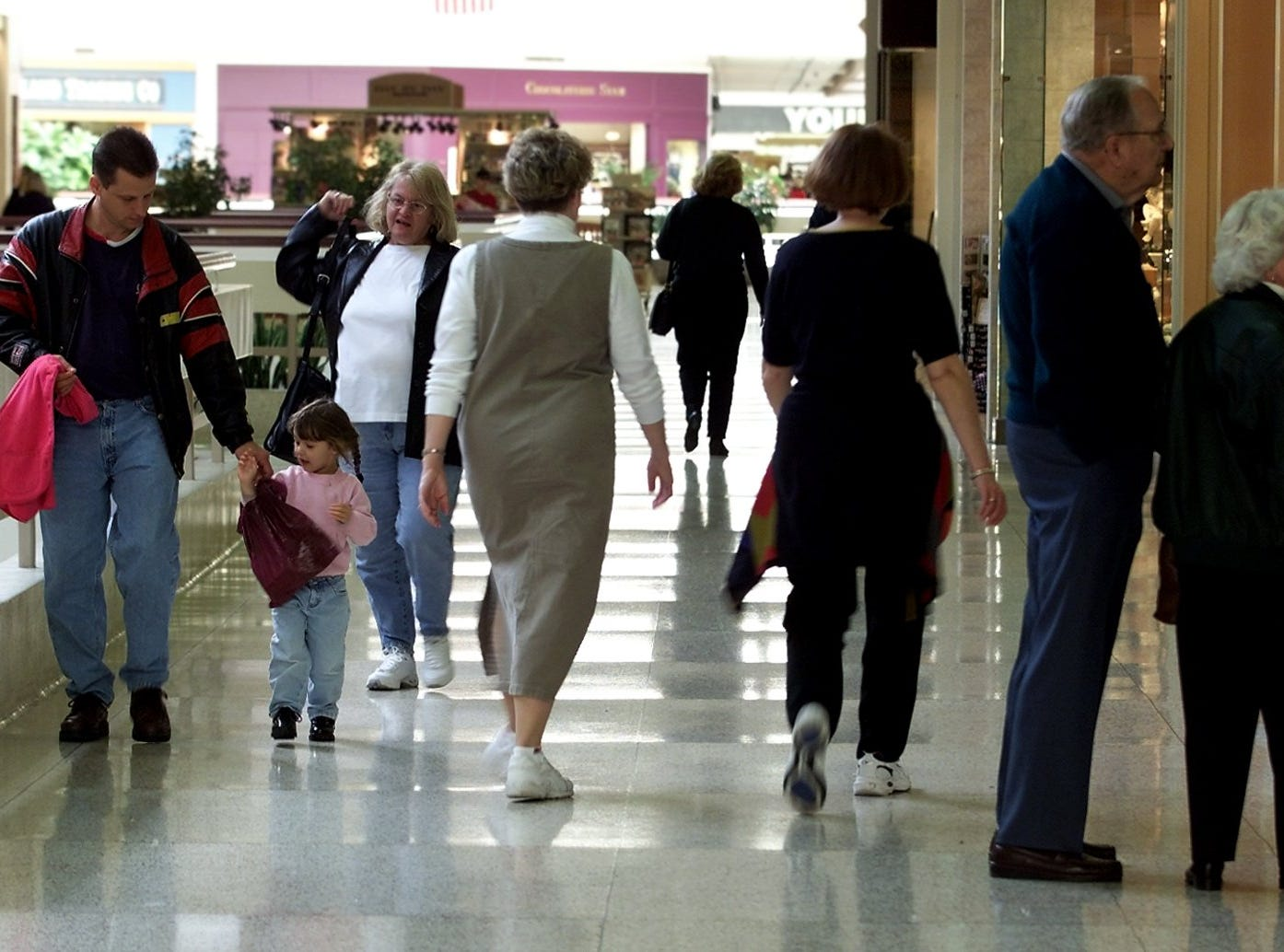 Shoppers at Valley West Mall in West Des Moines on Oct. 16, 2011.