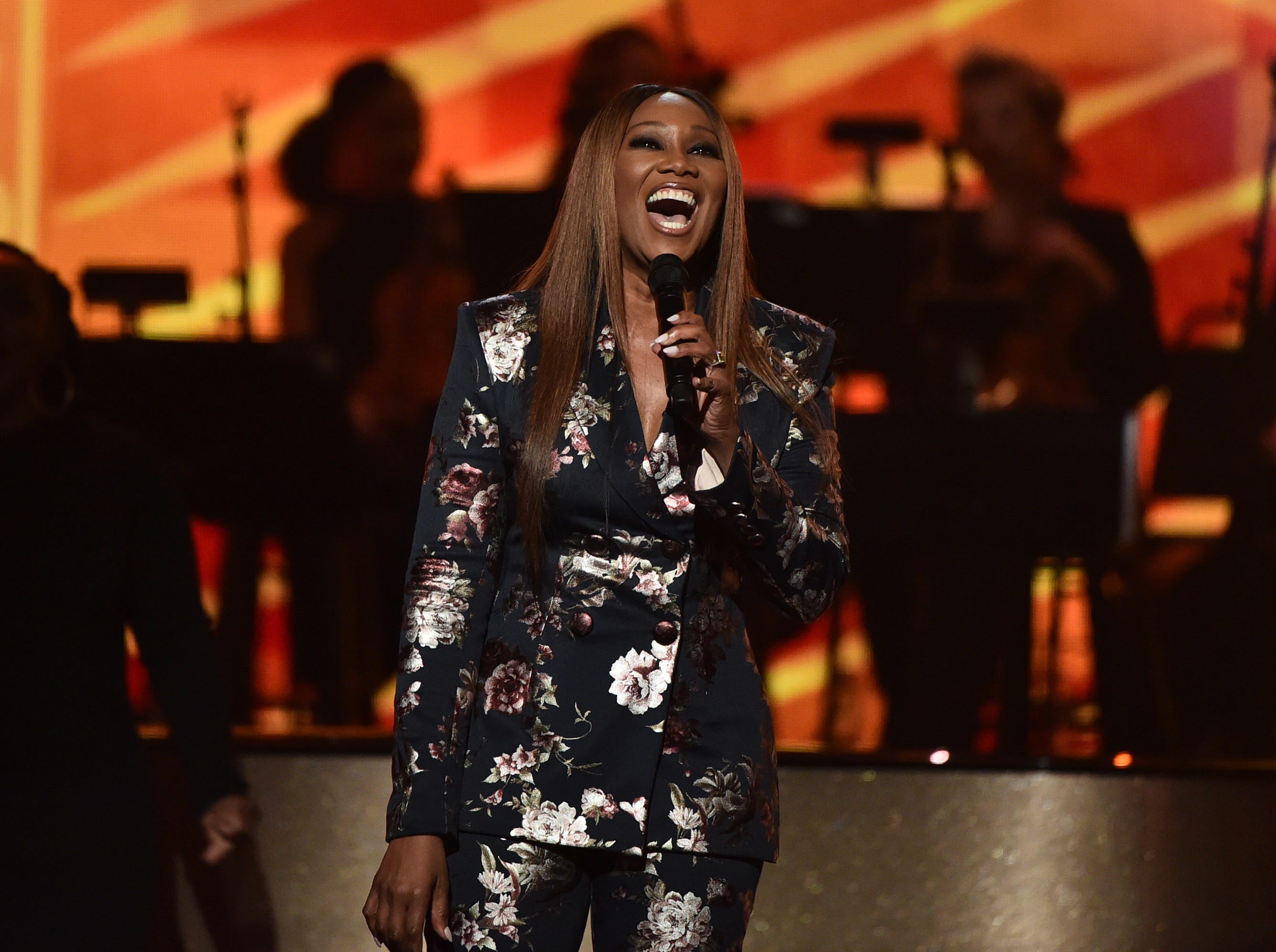 """LOS ANGELES, CA - JANUARY 13:  Yolanda Adams performs at """"Aretha! A Grammy Celebration For the Queen Of Soul"""" at the Shrine Auditorium on Jan. 13, 2019, in Los Angeles, Calif."""
