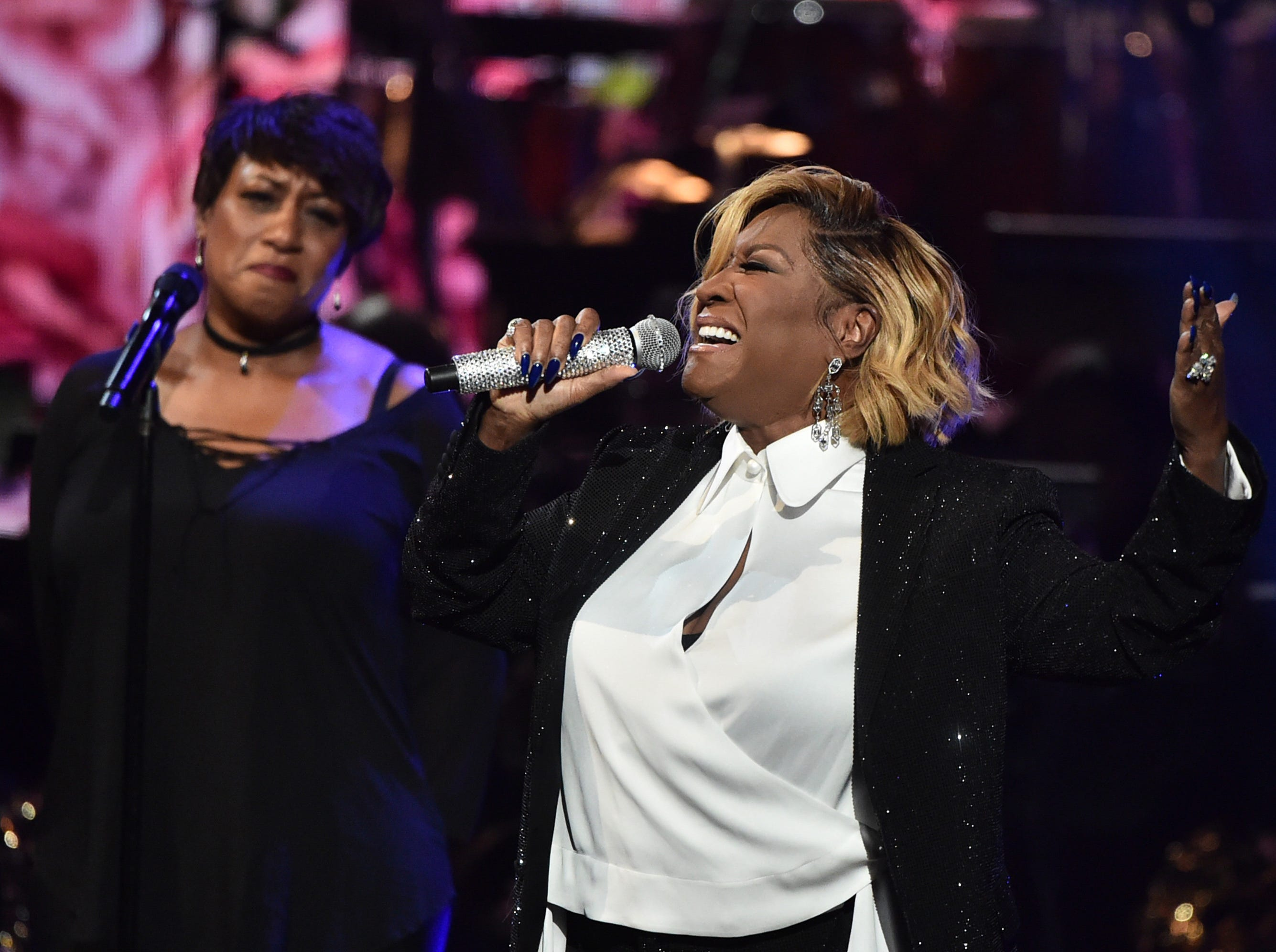 """LOS ANGELES, CA - JANUARY 13:  Patti LaBelle at """"Aretha! A Grammy Celebration For the Queen Of Soul"""" at the Shrine Auditorium on Jan. 13, 2019, in Los Angeles, Calif."""