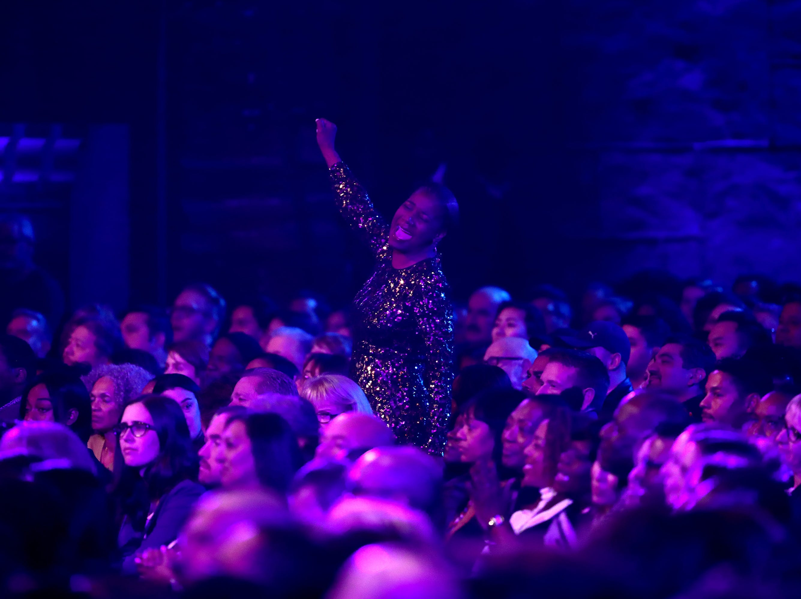 """LOS ANGELES, CA - JANUARY 13:  A general view of the audience is seen at """"Aretha! A Grammy Celebration For the Queen Of Soul"""" at the Shrine Auditorium on Jan. 13, 2019, in Los Angeles, Calif."""