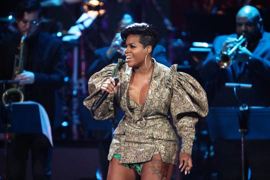 "Fantasia performs at ""Aretha! A Grammy Celebration For the Queen Of Soul"" at the Shrine Auditorium on Jan. 13, 2019, in Los Angeles."