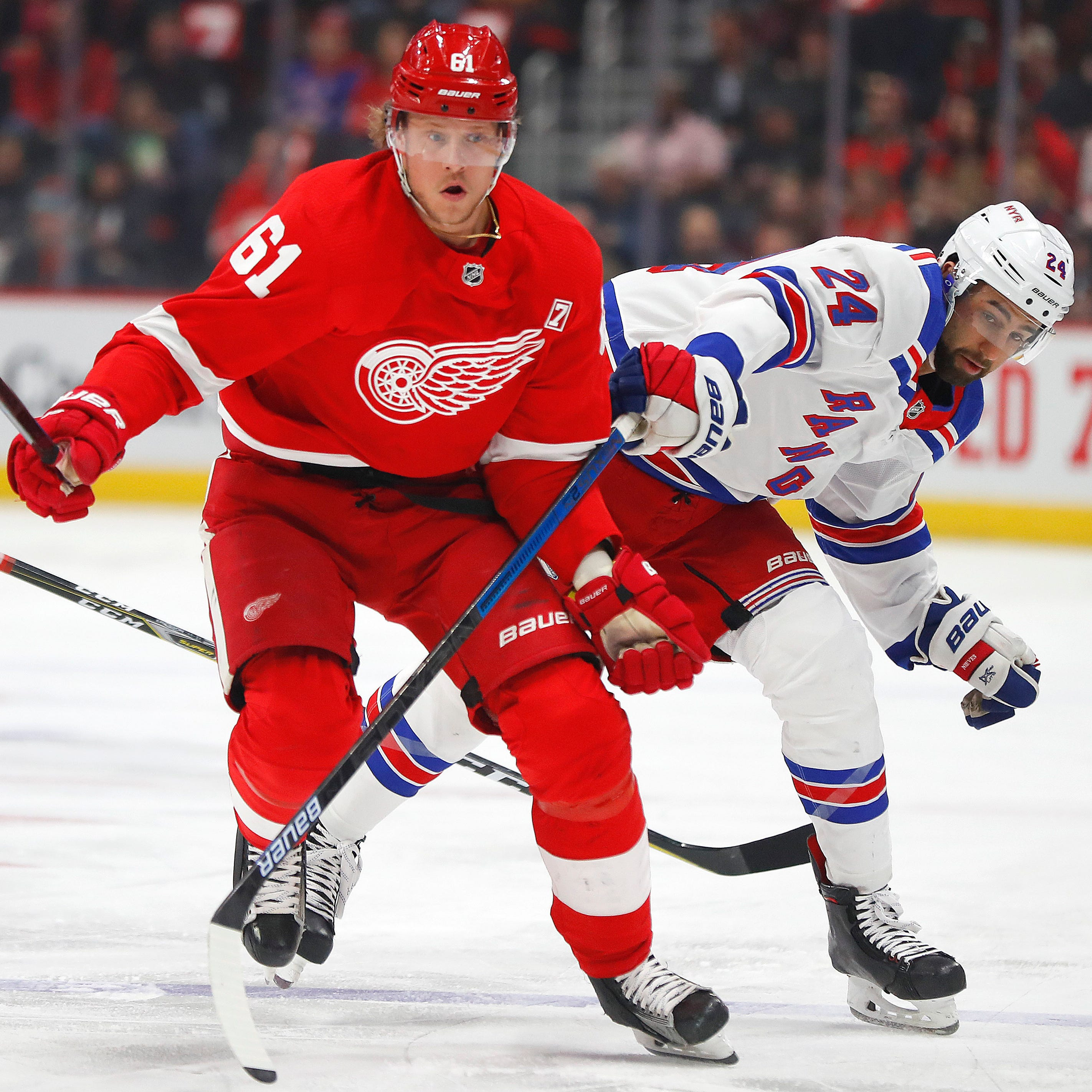 Detroit Red Wings' Jacob de la Rose hospitalized after cardiac episode