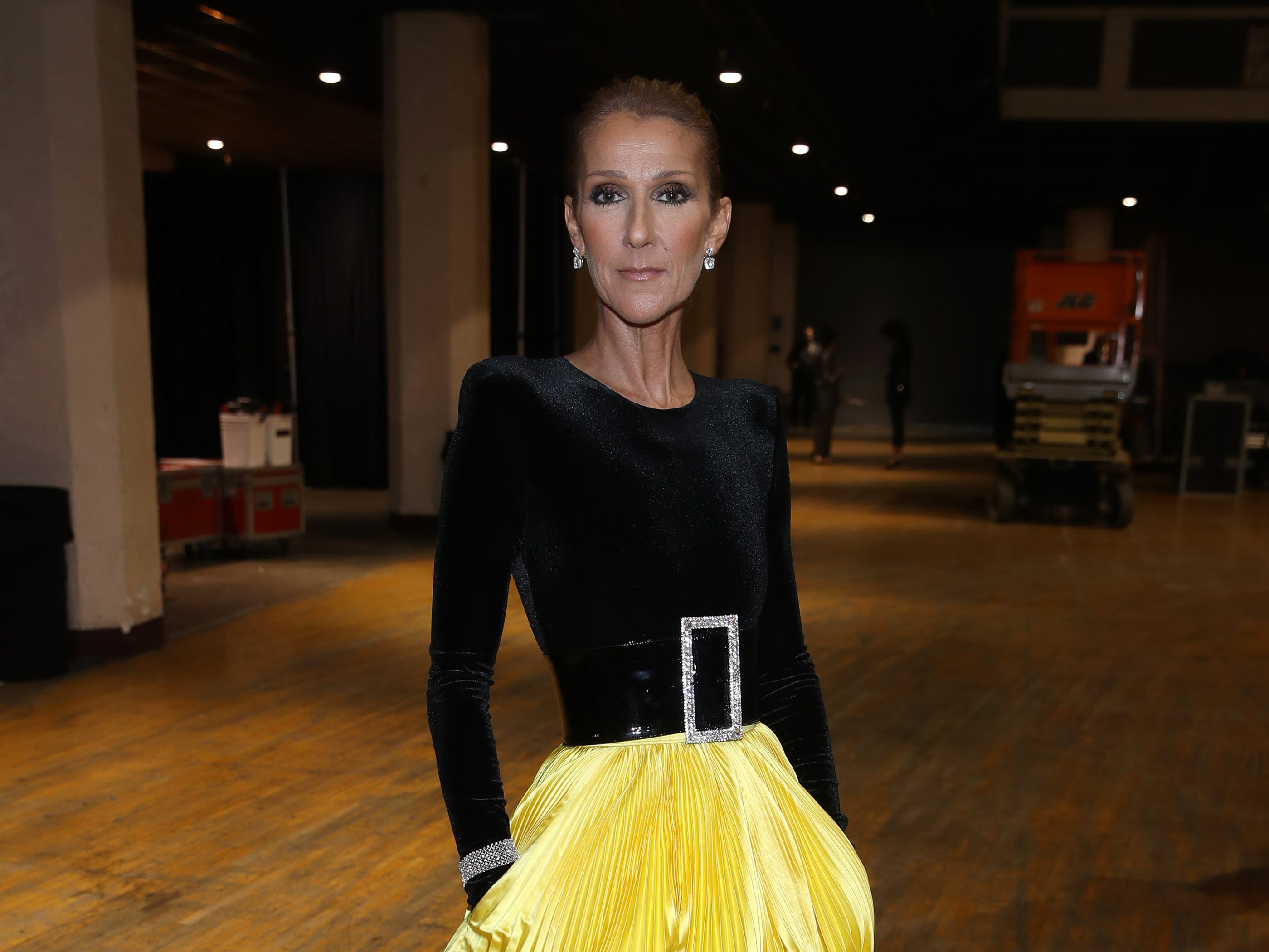 """LOS ANGELES, CA - JANUARY 13:  Celine Dion attends """"Aretha! A Grammy Celebration For the Queen Of Soul"""" at the Shrine Auditorium on Jan. 13, 2019, in Los Angeles, Calif."""