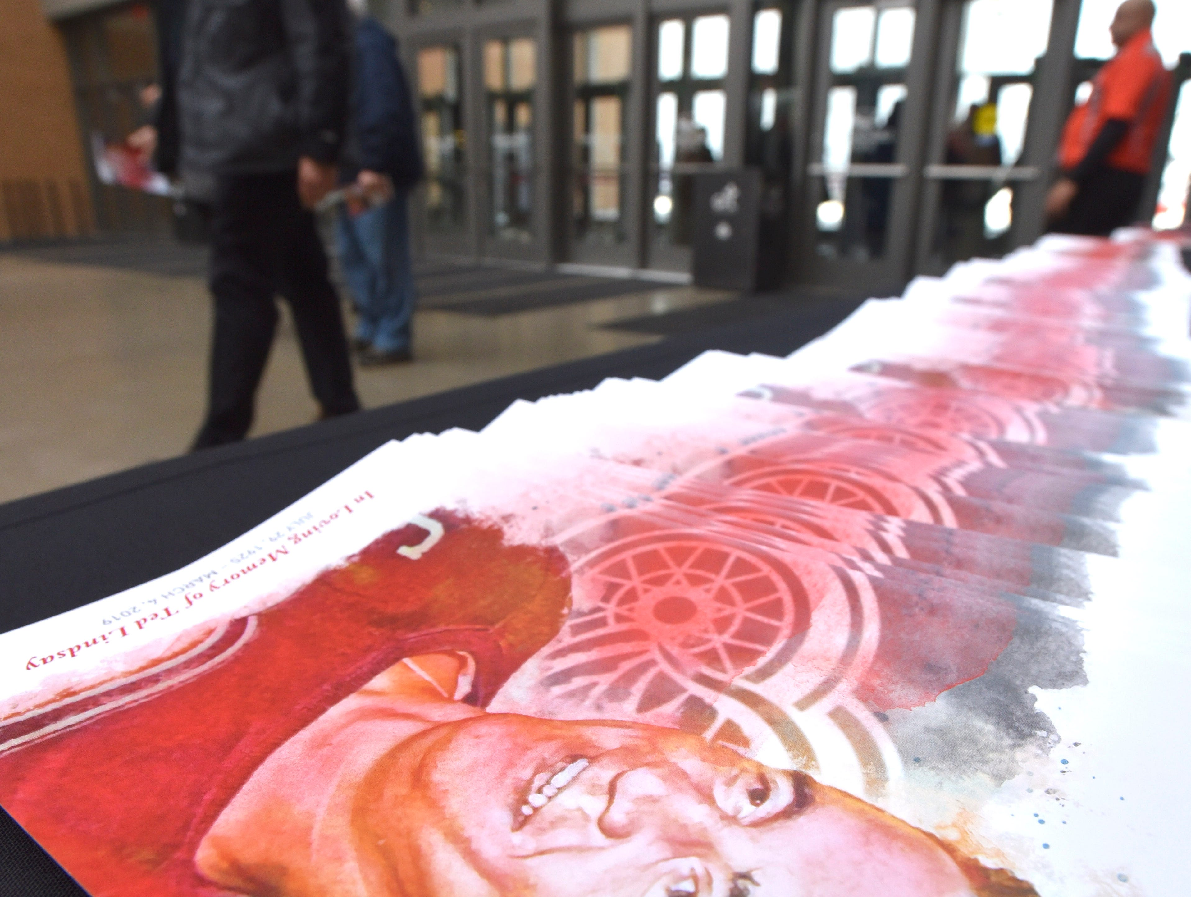 Members of the public wishing to pay their respects to Red Wing great Ted Lindsay must enter the LCA Meijer entrance near Henry Street and Cass Avenue. The entrance will be open until 7:07 p.m.  Friday, March 8, 2019.
