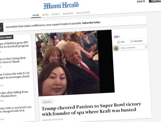 Report: Spa founder attended Trump's Super Bowl party