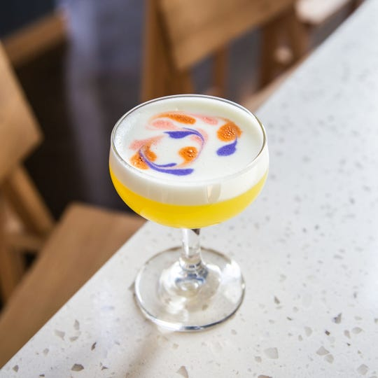"The ""Doves in the Wind"" cocktail is part of the new drink menu at Magpie, the bar inside Fort Street Galley."