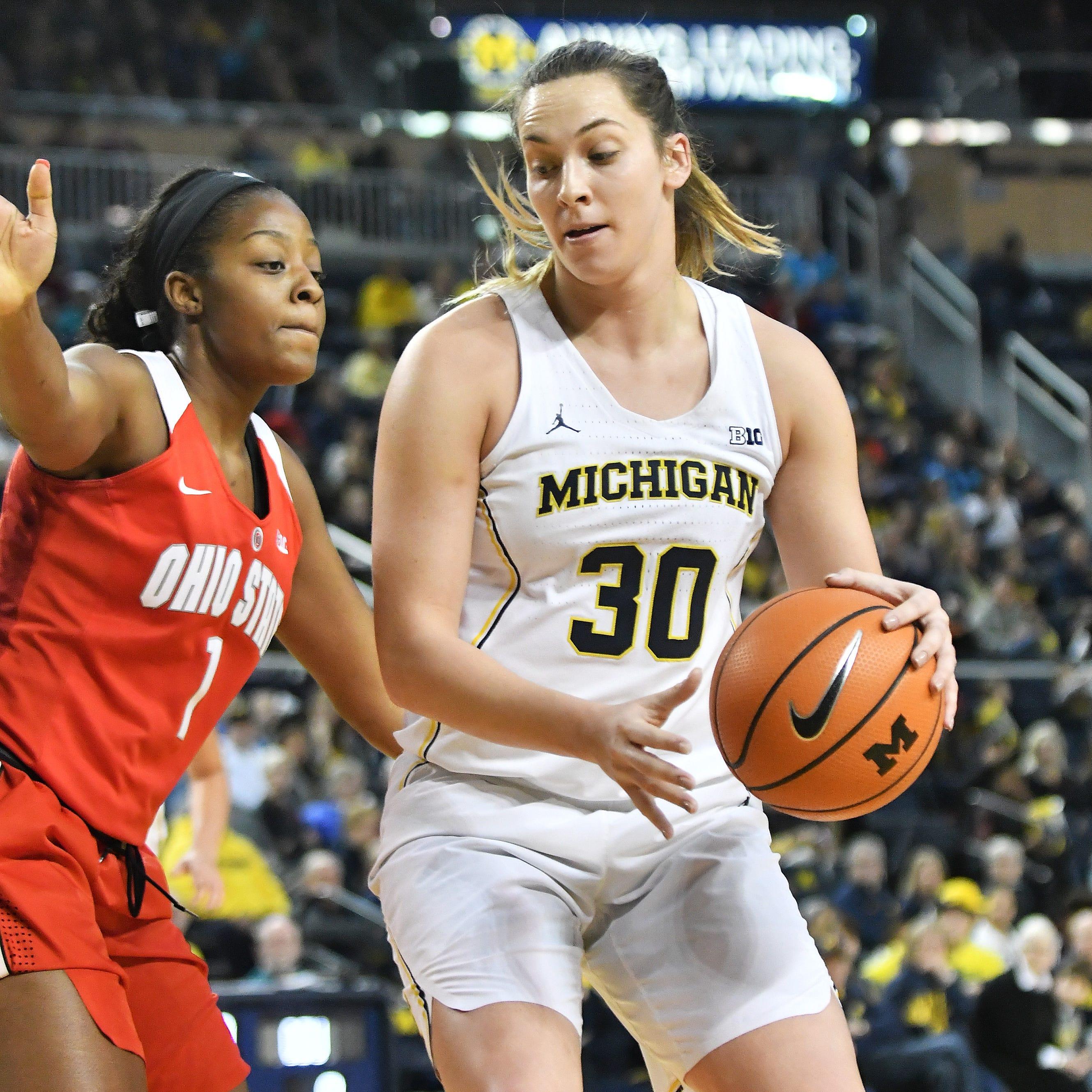 Michigan women earn 2OT win in Big Ten tournament; MSU eliminated