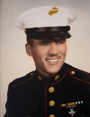 A photograph of Michael Bard, a Lance Corporal in the U.S. Marines.  Bard died in the Vietnam conflict in 1968.
