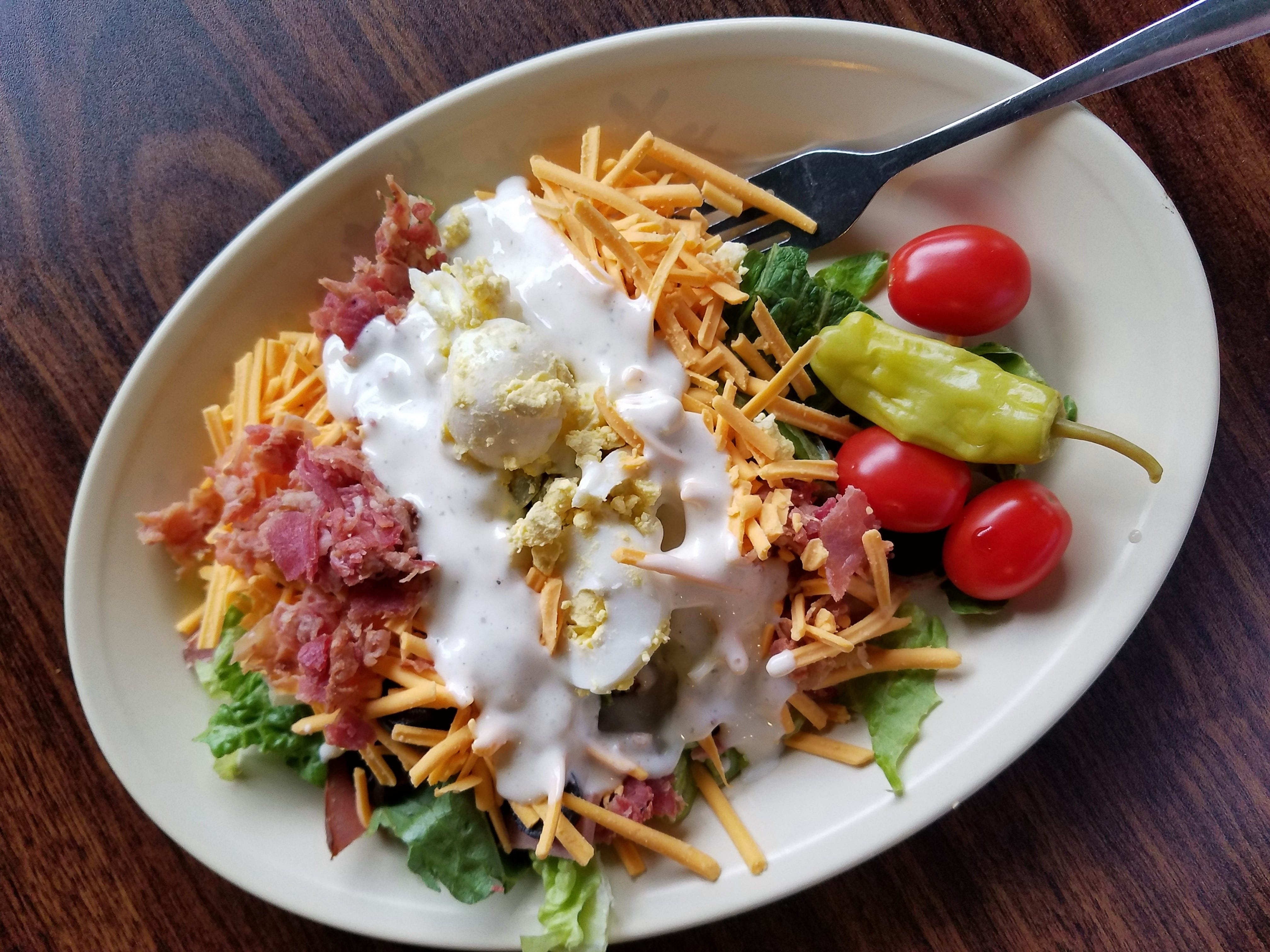 A fresh salad bar creation at Gottzz's in Carmi.