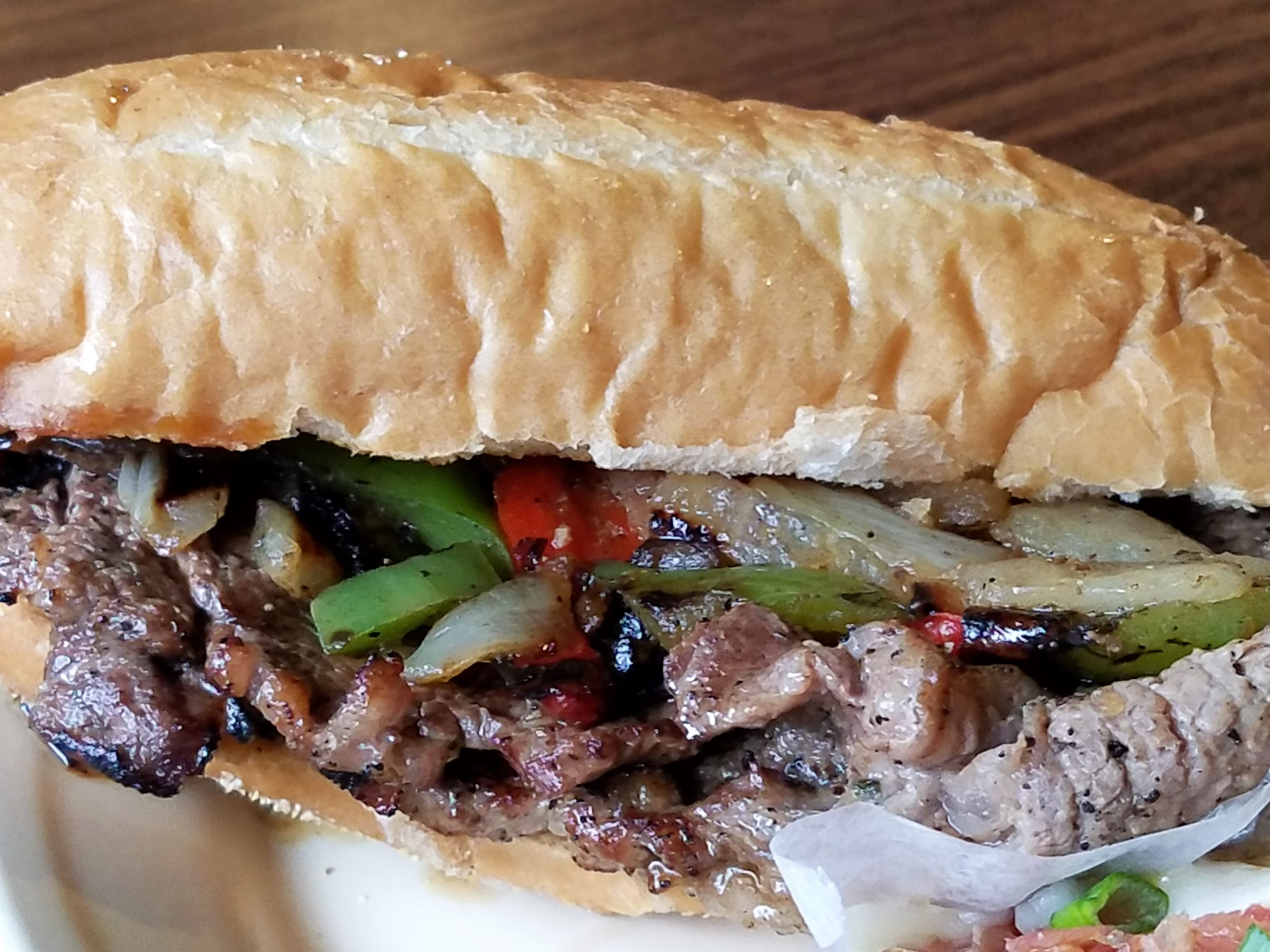 A ribeye steak sandwiches with peppers and onions Gottzz's is located at 105 Cherry St. in Carmi.