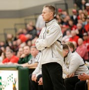 Waupun boys basketball coach Dan Domask watches his team play against Columbus during their WIAA Division 3 sectional semifinal game March 7 in Beaver Dam.