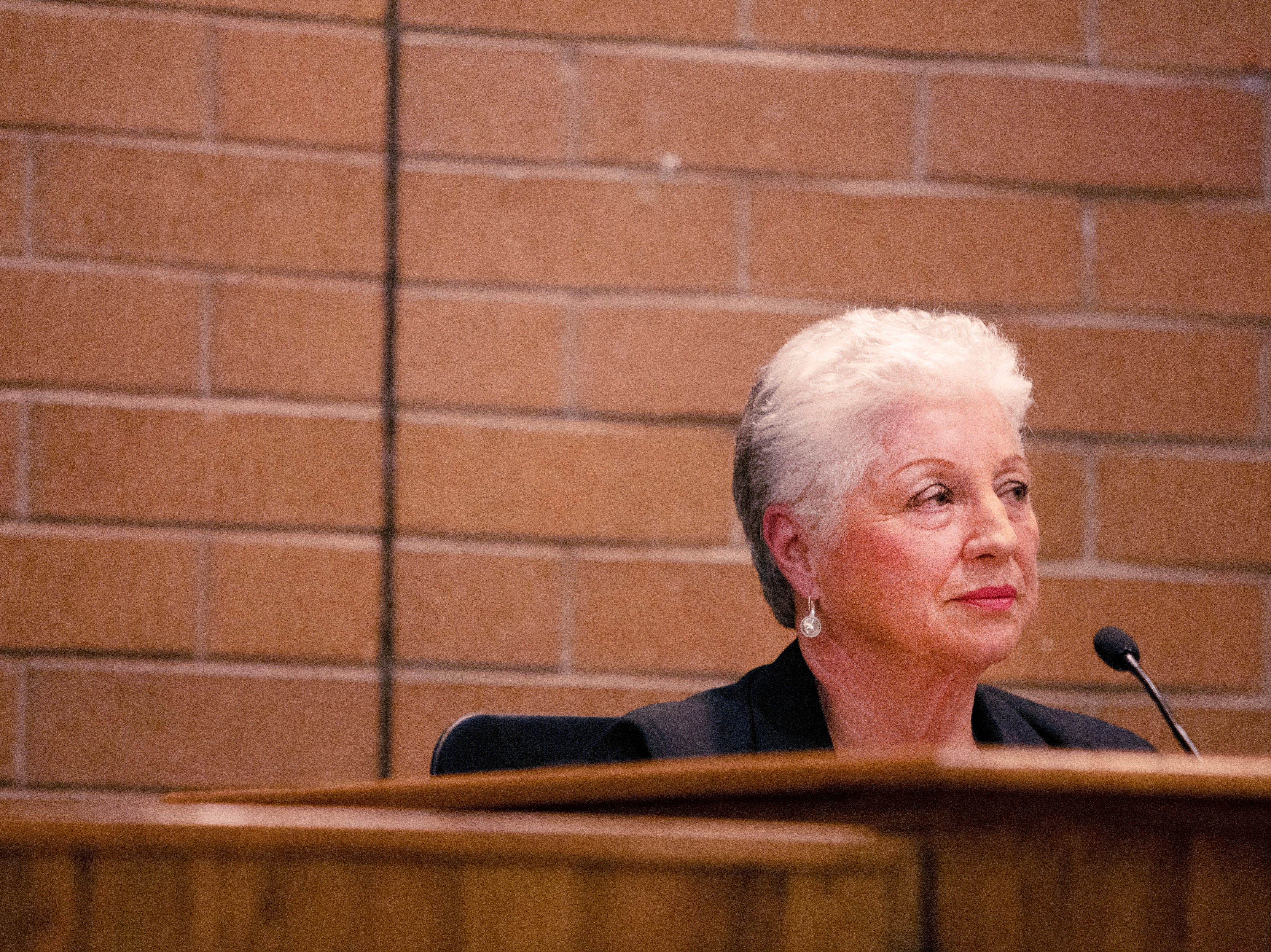 City Council member Susan Gutowsky participates in the candidate forum hosted by The League of  Women Voters of Larimer County at City Hall on March 6.