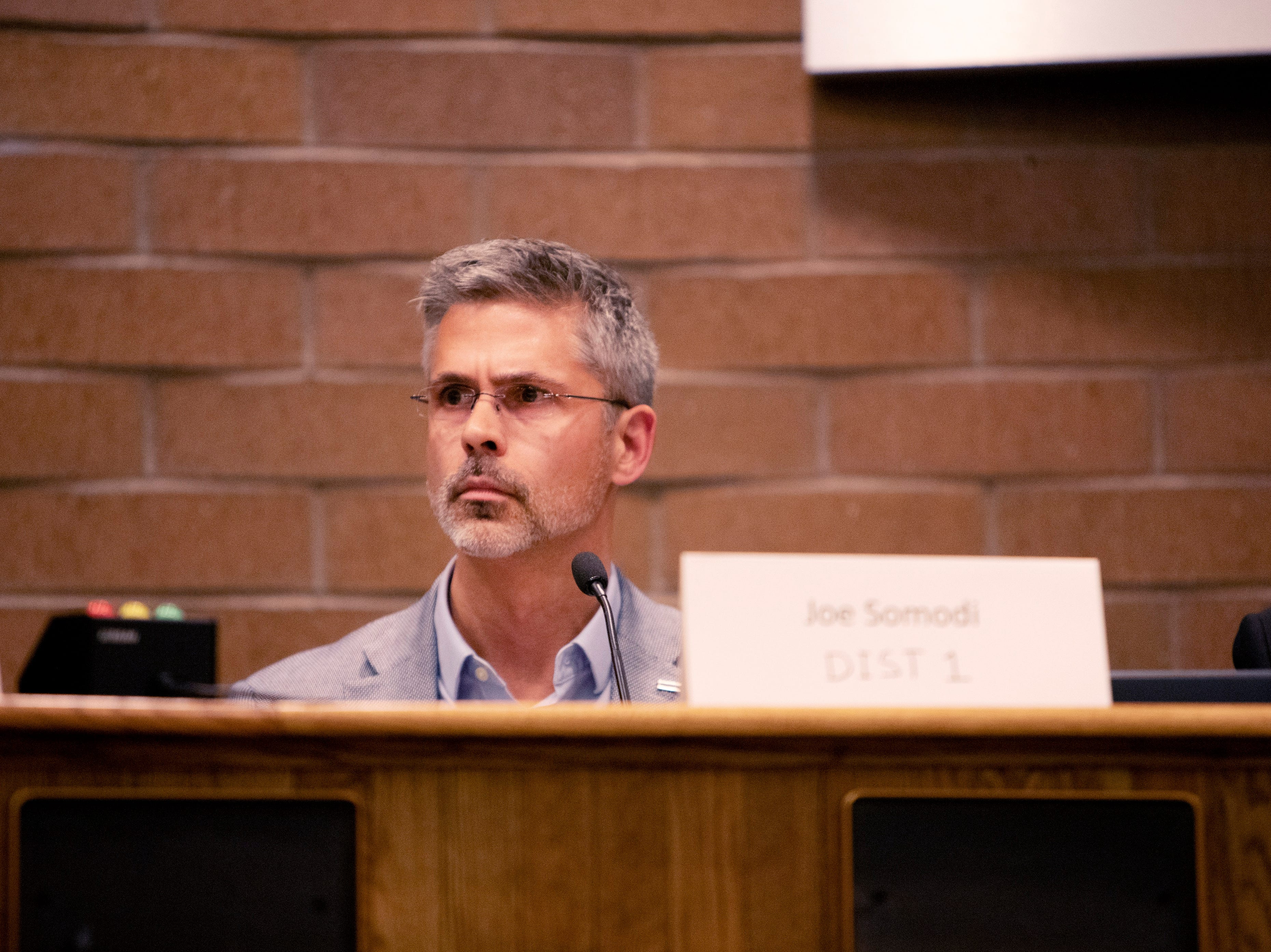 City Council candidate Joe Somodi participates in the candidate forum hosted by The League of  Women Voters of Larimer County at City Hall on March 6.