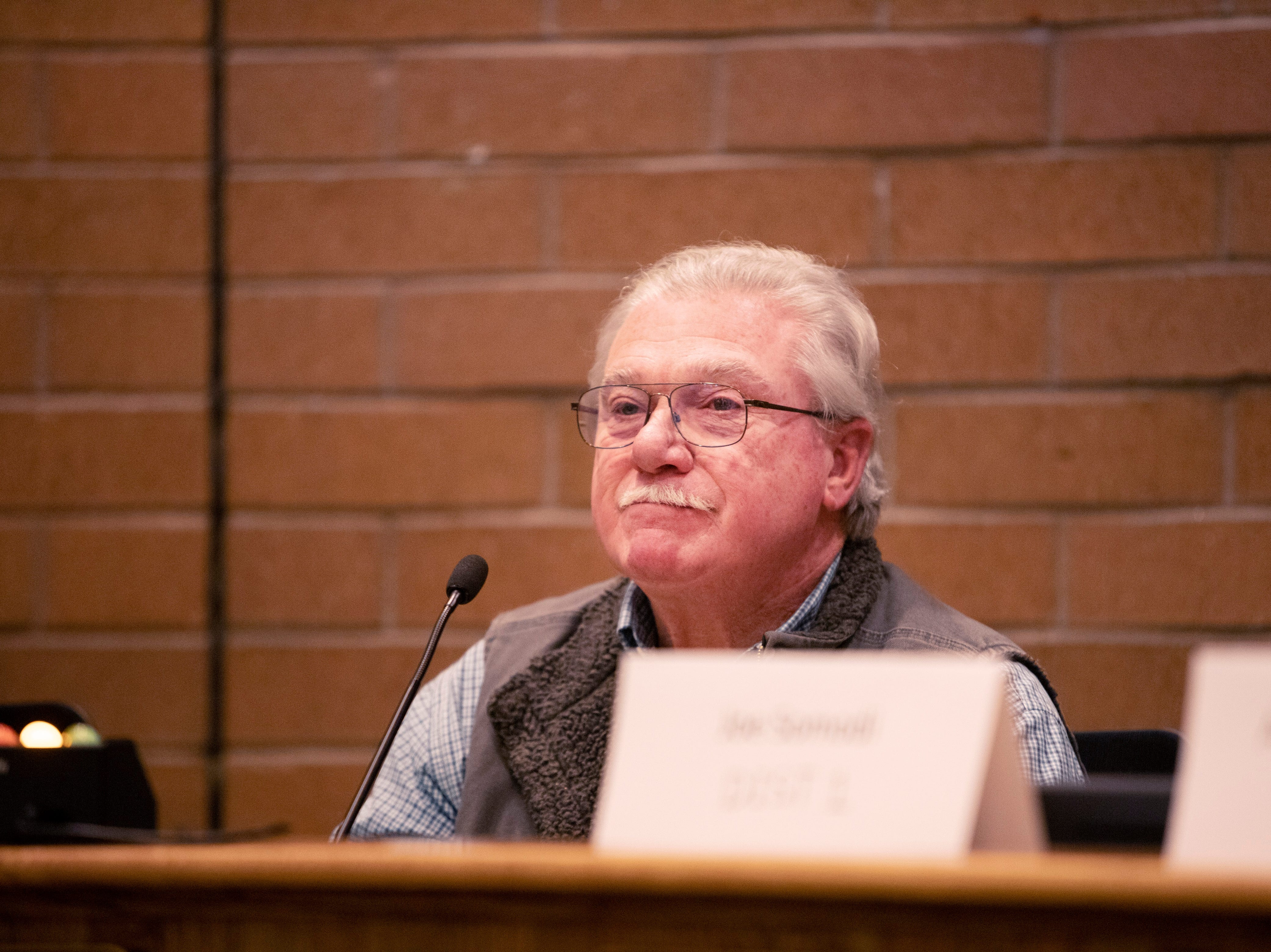 City Council candidate Glenn Haas participates in the candidate forum hosted by The League of  Women Voters of Larimer County at City Hall on March 6.