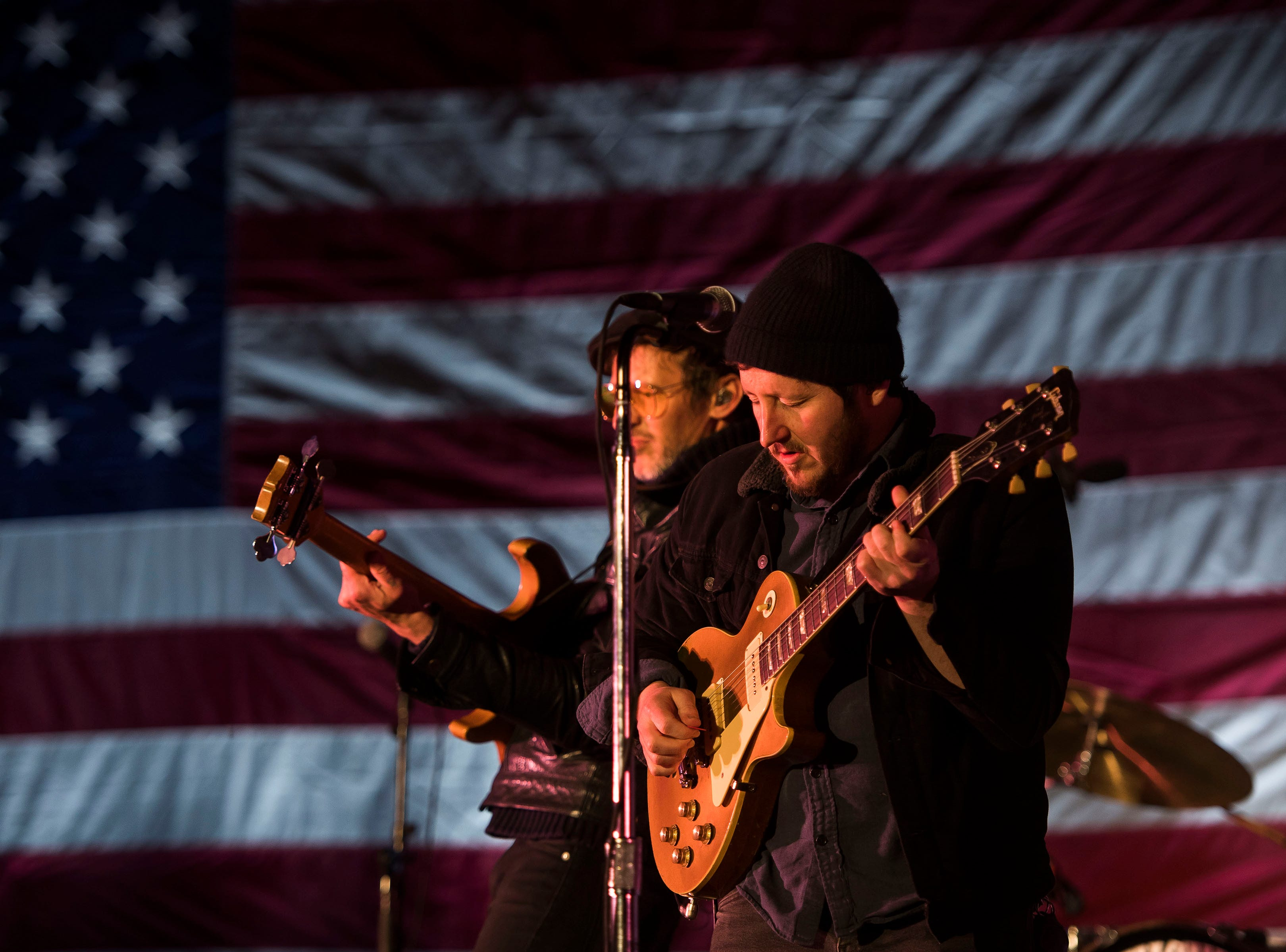 Nathaniel Rateliff & The Night Sweats perform at the John Hickenlooper presidential campaign kick-off rally on Thursday, March 7, 2019, at the Greek Ampitheatre in Civic Center Park in Denver, Colo.