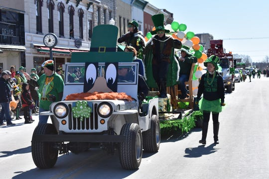 The float from Selvick Marine Towing won Best Irish Entry at last year's Sturgeon Bay St. Patrick's Day Parade, and the local firm plans to defend its title with this year's entry.