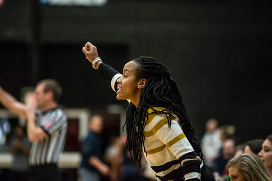 Sierra Simpson, a former Hillcrest High and Anderson University star, is the associate head coach of the Lenoir-Ryhne University women's basketball team.