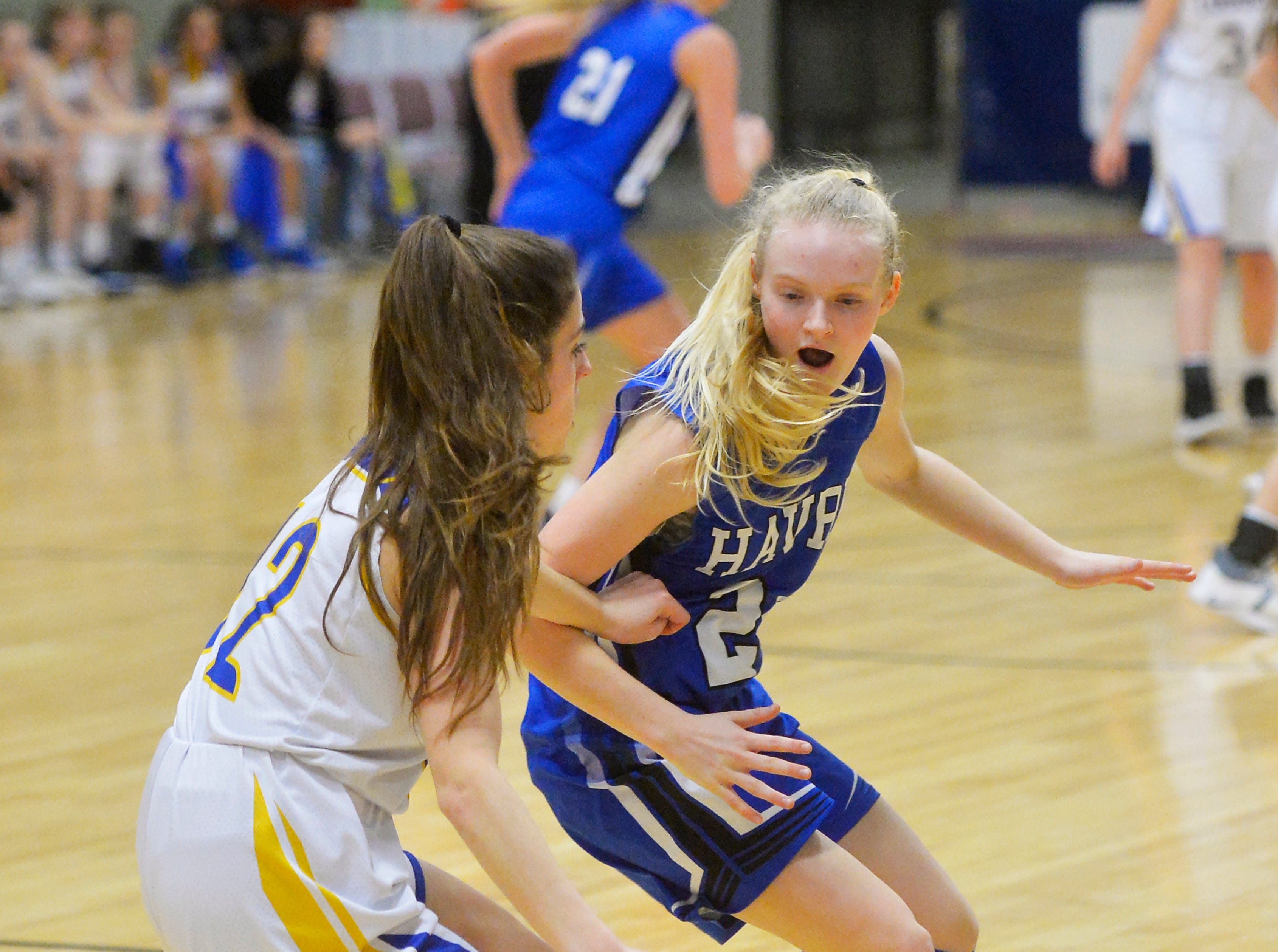 Havre and Libby play in the first round of the Class A Girls Basketball Tournament on Thursday in the Four Seasons Arena.