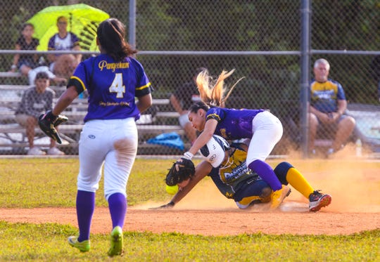 The Guam High Panthers faced the George Washington High Geckos in an IIAAG Girls Softball playoff game at Okkodo High March 7.