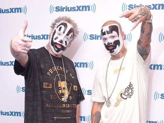"""Insane Clown Posse (Violent J, left, and Shaggy 2 Dope) will bring the """"Gathering of the Juggalos"""" to Indiana this summer."""