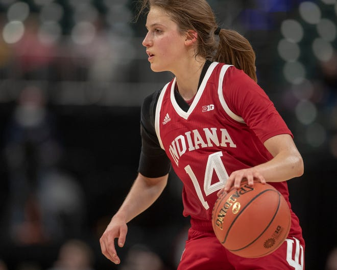 Ali Patberg led the Hoosiers in scoring and assists last season.