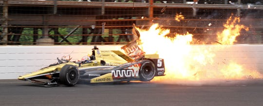 James Hinchcliffe was severely injured after hitting the wall during practice for the Indianapolis 500 on May 18, 2015. .
