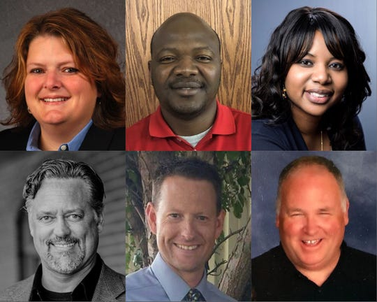 North Liberty voters will between the following candidates for city council: Josey Bathke, Abdouramane Bila, RaQuishia Harrington, Steve Sherman, Brent Smith and Matt Zacek (from left to right, top to bottom).