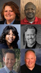 The following candidates ran in the special election to fill a vacancy on North Liberty's city council: Josey Bathke, Abdouramane Bila, RaQuishia Harrington, Steve Sherman, Brent Smith and Matt Zacek (from left to right, top to bottom).