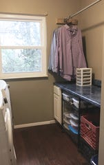 "This client was so pleased with his ""new,"" organized, stress-free laundry room that he decided to finish some abandoned home projects."