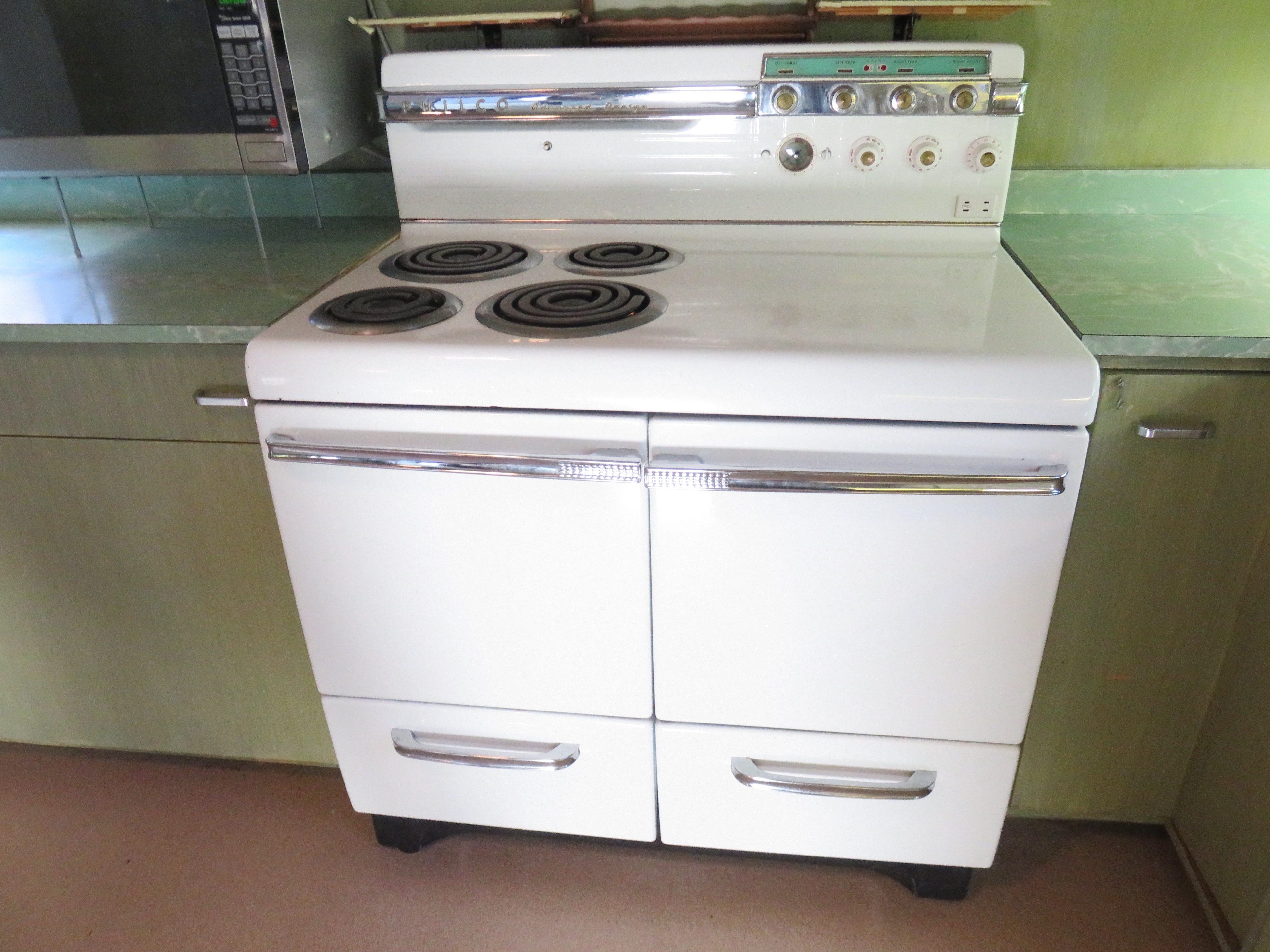 The Philco stove in kitchen still works.