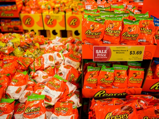The World's Greatest Reese's Display at Food City on Morrell Road in Knoxville on Friday, March 8, 2019.
