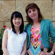 Marie Kondo with Monika Miller during Miller's certification training in Chicago, May of 2017. Not everyone is accepted for training, applicants must undergo a qualification process.