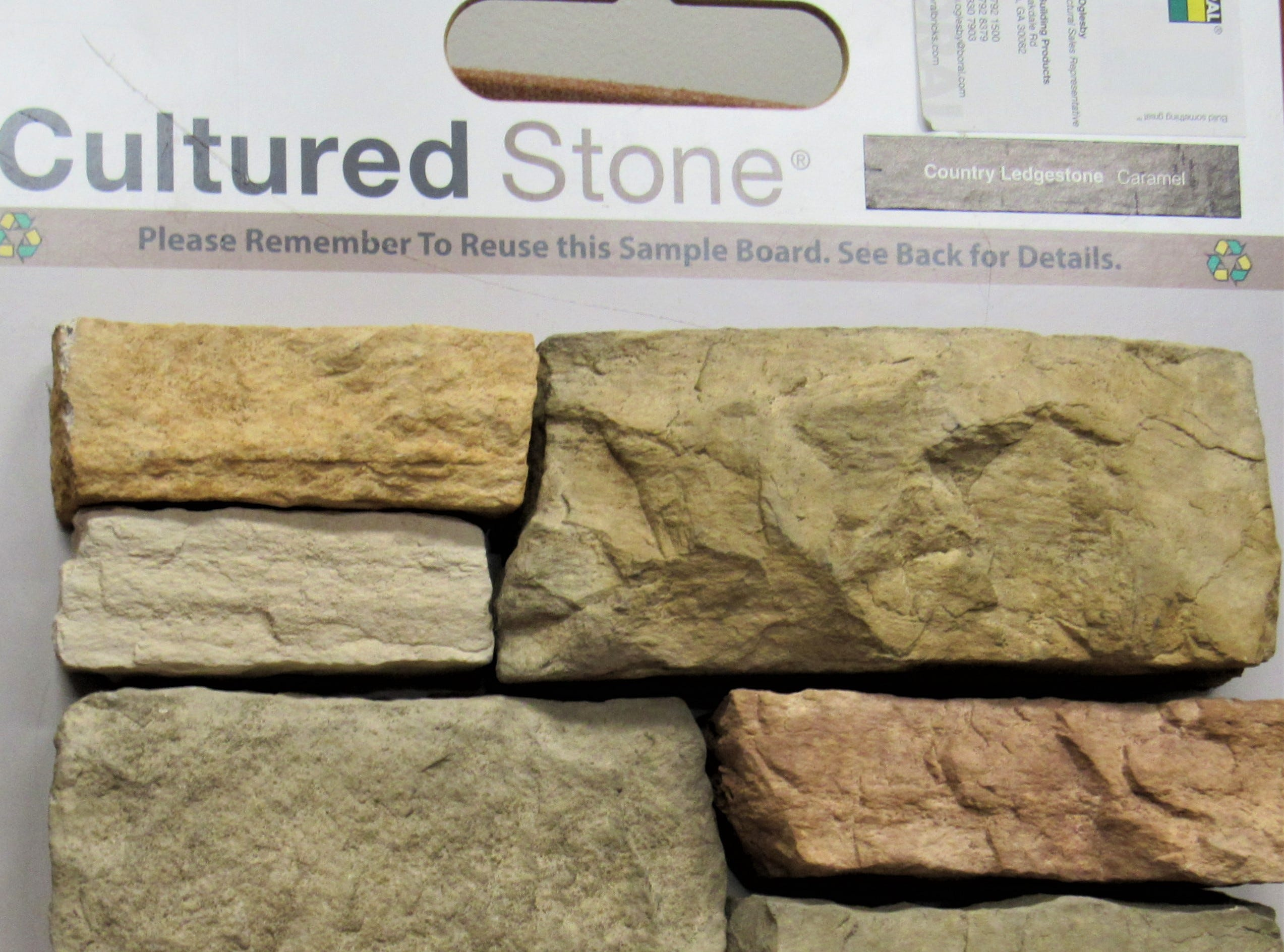 """This cultured stone is slated to be used on the façade of the soon to be renovated """"old"""" Ingles property."""