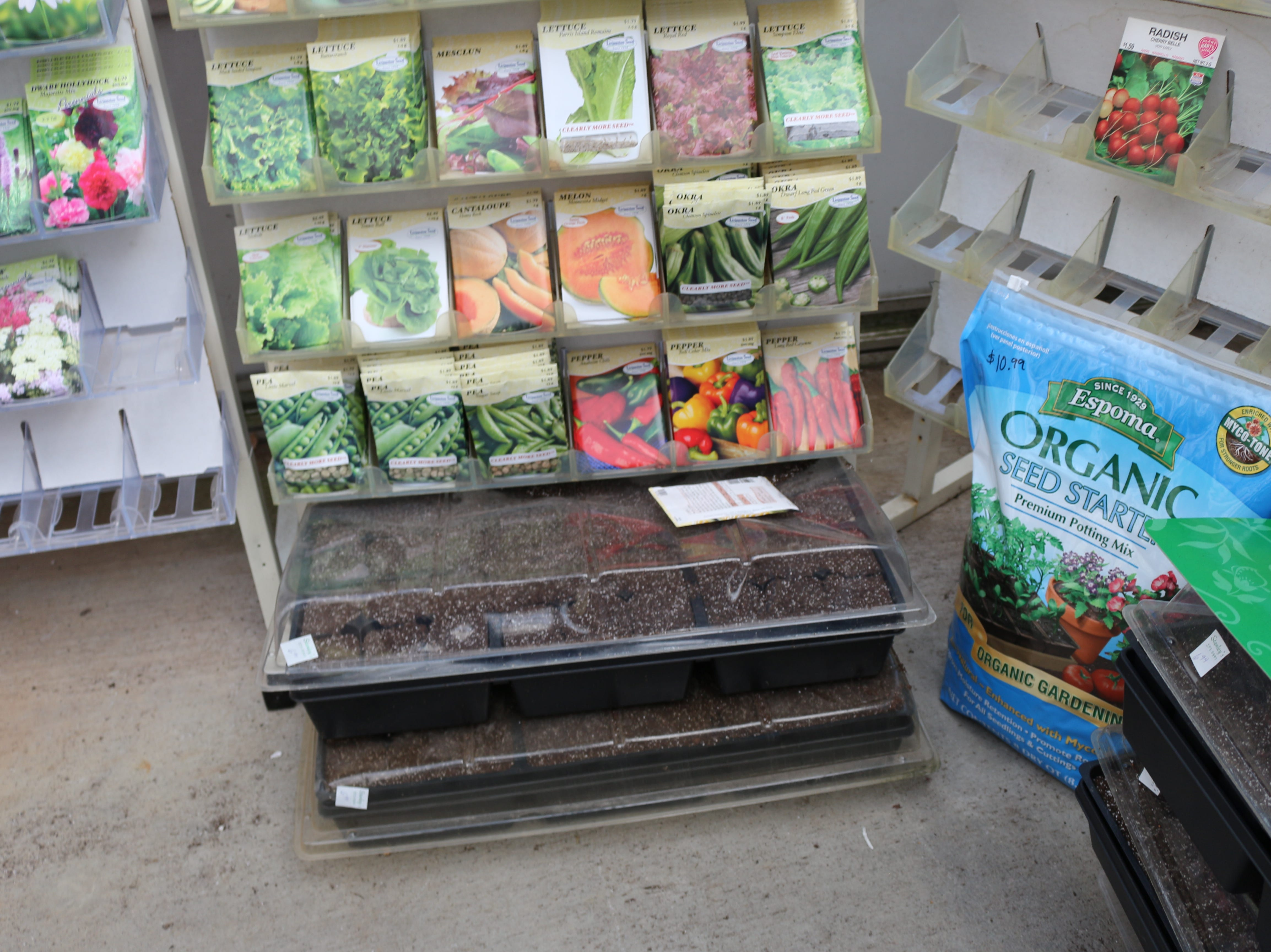 Stanley's sells trays and seed starter mix for those who wish to germinate seeds at home.