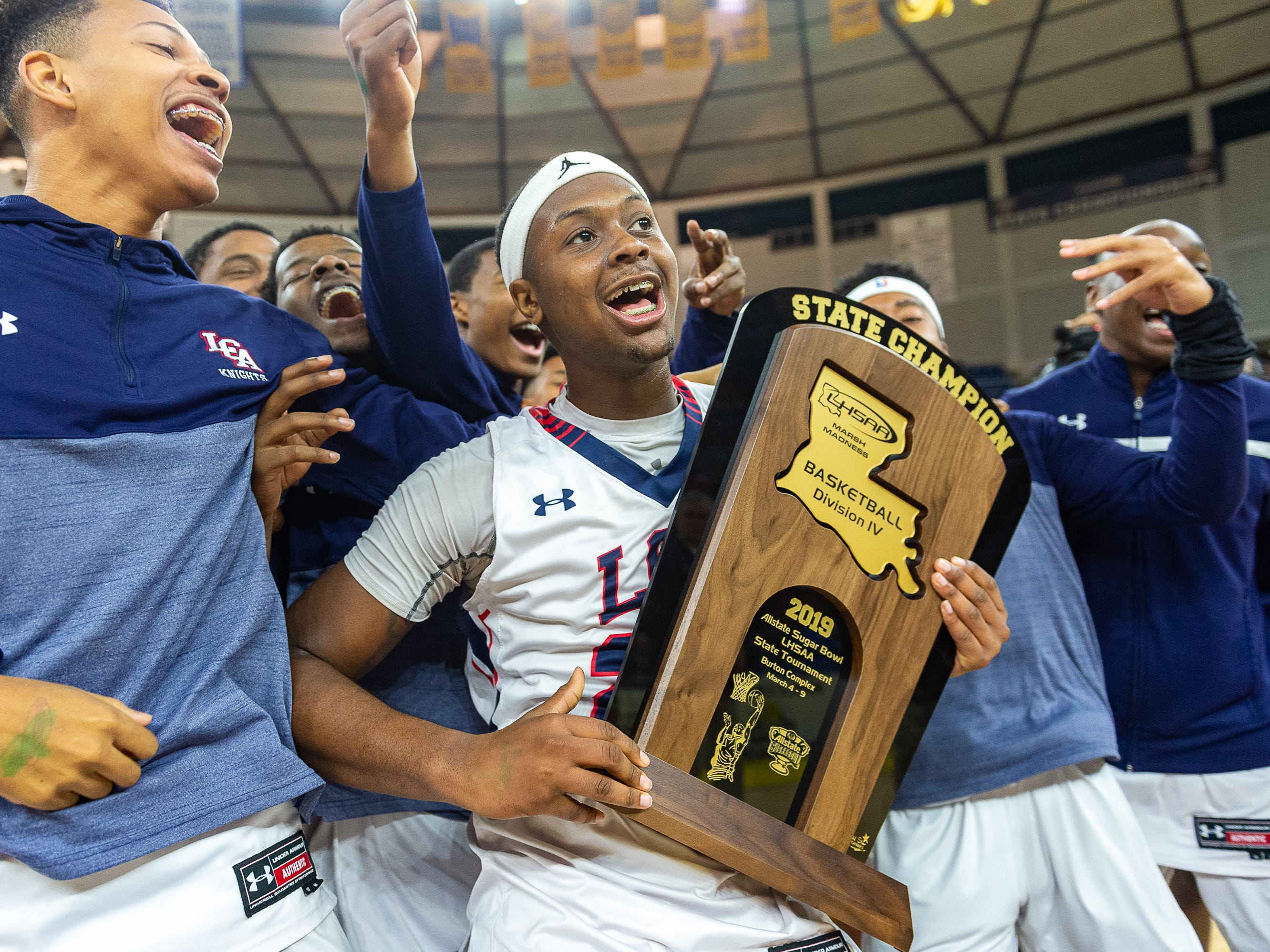 Lafayette Christian takes down Hamilton Christian to win the Allstate Sugar Bowl/LHSAA Boys' Marsh Madness State Championship. Friday, March 8, 2019.