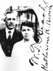 William T. and wife Katharine (Klein) Beach are shown in this 1922 passport photo. They owned the house at 121 W. Mulberry St. from 1936-1966.
