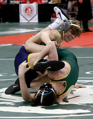 Lancaster's Logan Agin, who was already a two-time state placer finished as Division I state runner-up last season in the 113-pound weight class.