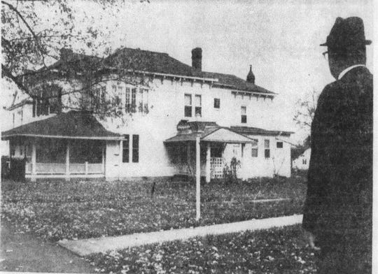 This photo of the house at 121 W. Mulberry appeared in the E-G on  Oct. 26, 1967. The American Red Cross had purchased the lot with the house and the empty lot to the east of the house as the site to build a new Red Cross Chapter house and parking lot.