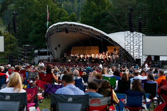 The Lancaster Festival Orchestra performed last year at the Ohio University Lancaster Wendel Concert Stage in Lancaster before Martina McBride's headline performance.