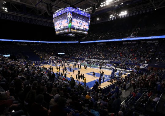 Rupp Arena hosted the Boys Sweet 16 last week. For the first time since girls basketball started in 1975, the girls state basketball tournament will also be played at Rupp Arena. Henderson County will face North Laurel in the final first-round game Thursday at 7 p.m.