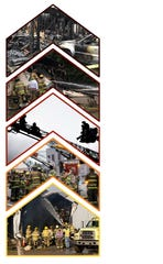 Here's a collage of photos from fire scenes.